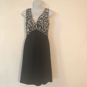 Maggie Boutique Animal Print Black & Gray Dress